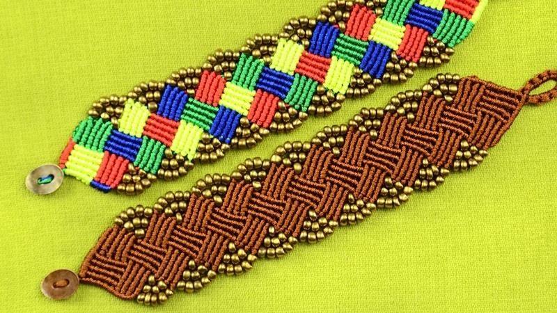 Beaded Macrame Square Bracelet Tutorial
