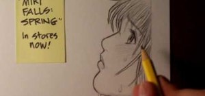 Draw a Manga face in profile