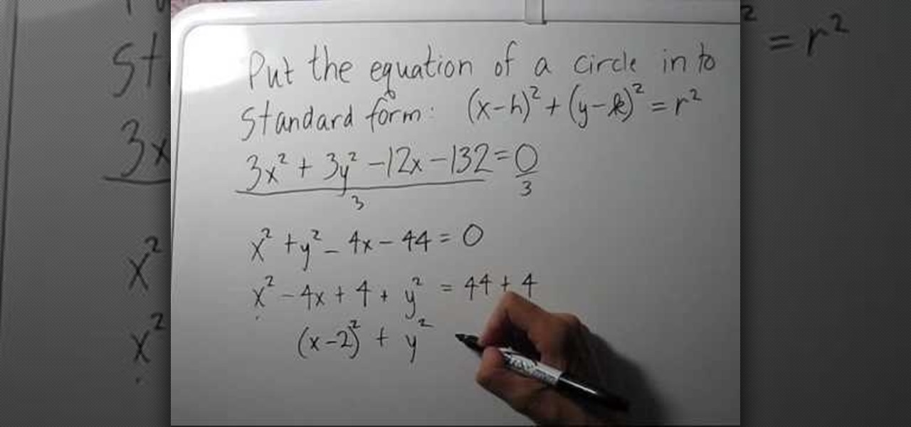 How To Write The Equation Of A Circle In Standard Form Math