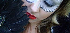 Create a bright white angel wings eye mask for Halloween