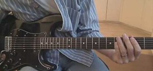 "Play ""Magnificent"" by U2 on electric guitar"