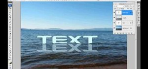Make cool text floating in water using Photoshop