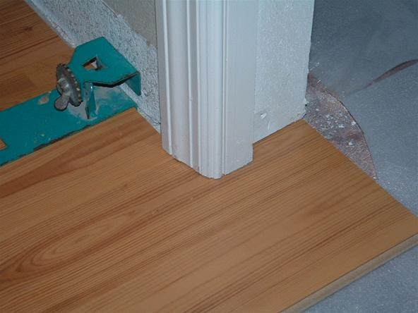 Laminate Flooring Under Door Jambs