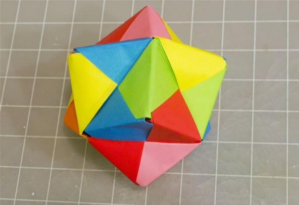 Scheme Origami Modular origami (cube without corners).