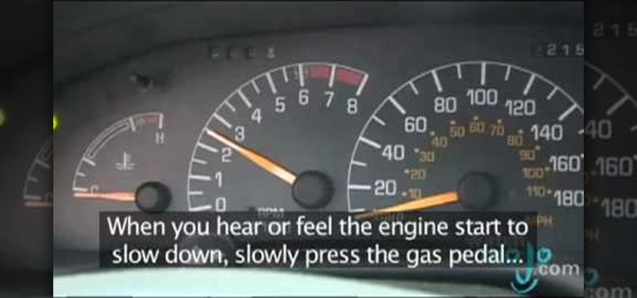 how to jump a manual car