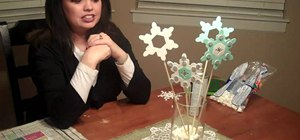 Create a super simple snowflake centerpiece and table runner for winter