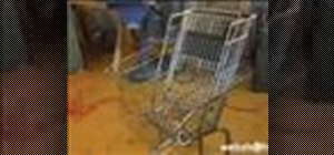 Make a shopping cart into a wheelchair