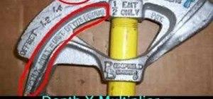 Make an offset conduit bend