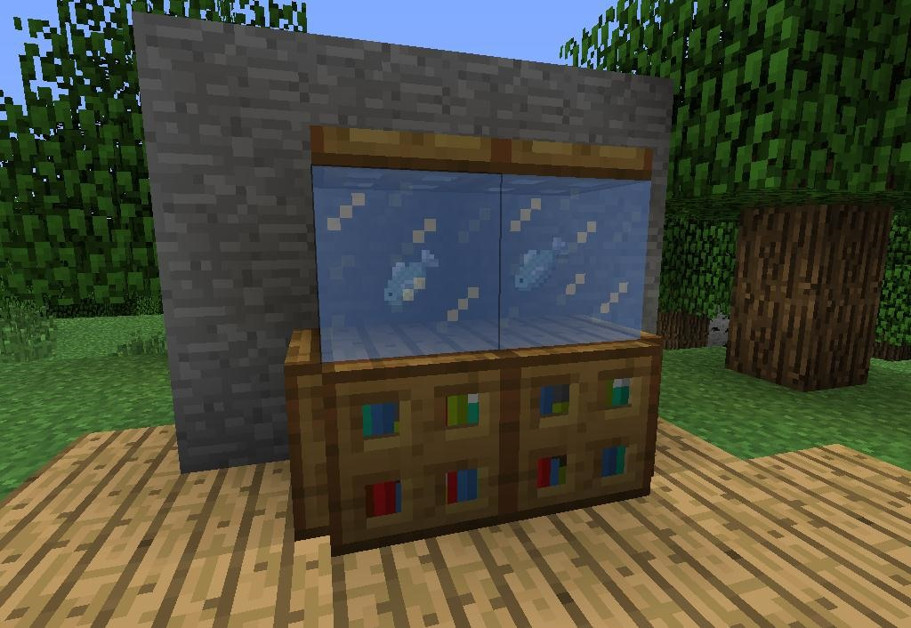 How to make furniture in minecraft minecraft wonderhowto for How to make ice in a fish tank