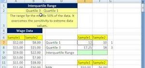 How to find range and interquartile range in microsoft excel find range and interquartile range in microsoft excel ccuart Images