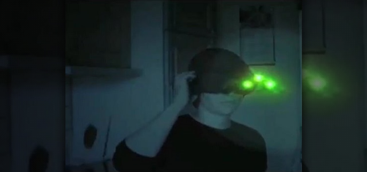 how to make splinter cell prop goggles - Splinter Cell Halloween Costume