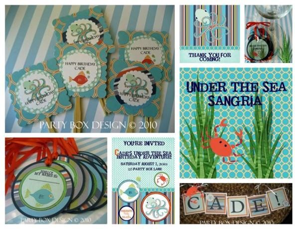 Under the sea party | party box designs