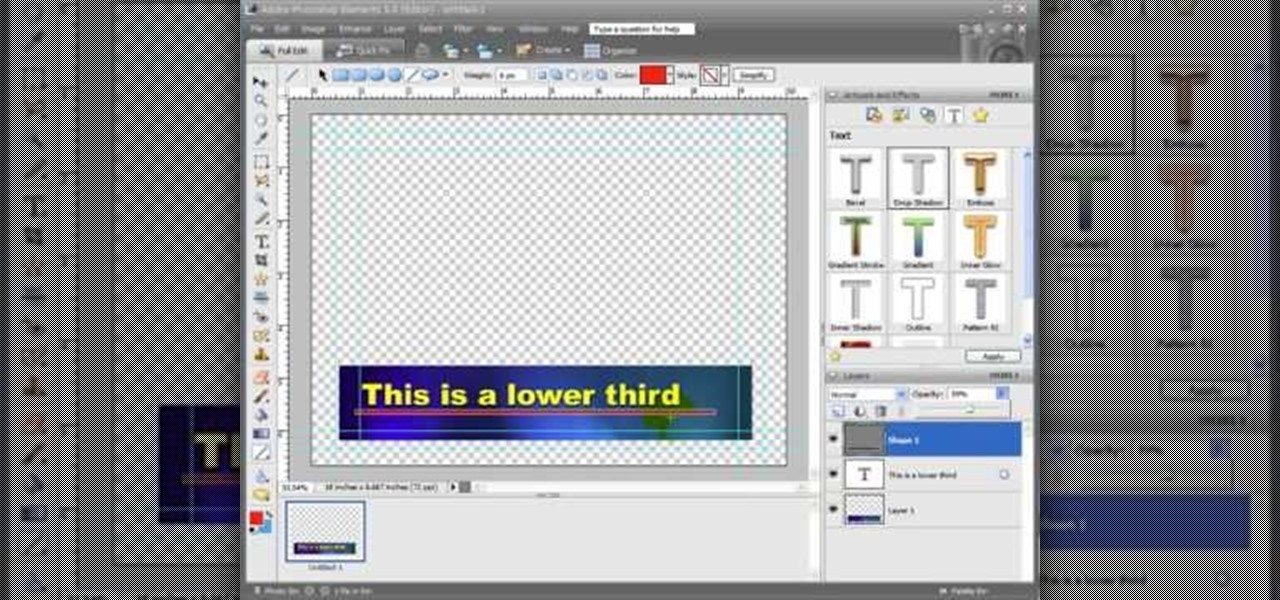 How To Create Lower Thirds For Video Using Photoshop Elements WonderHowTo
