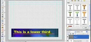Create lower thirds for video using Photoshop Elements