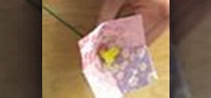 Origami a great bell flower