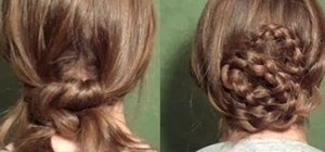 "Create two simple and feminine ""dress up-able"" updos"