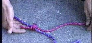 Tie a double fisherman's knot for climbing