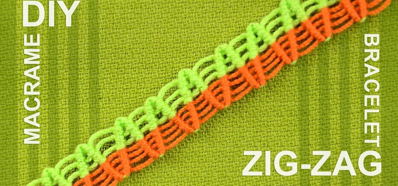 Make a ZigZag Macrame Bracelet