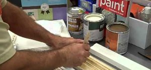 Apply faux finish trim to cabinets with the Home Depot