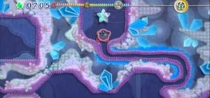 Get Kirby through the Cool Cave level on Hot Land in Kirby's Epic Yarn