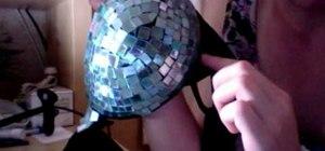 Make a Lady Gaga inspired disco ball bra