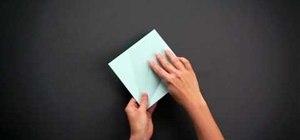 Fold an intermediate origami owl