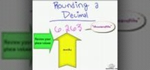 Round a decimal up or down in math