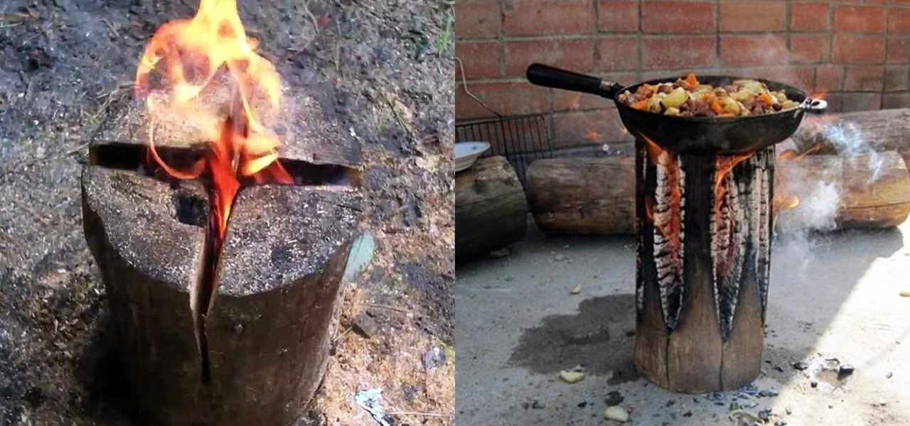 Make an All-Night Campfire with Just One Log
