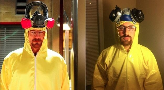 a gas mask  Breaking Bad Gas Mask Costume
