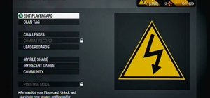 Make a high voltage hazard sign playercard emblem in Call of Duty: Black Ops