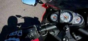 Countersteer on a 2008 Ninja 250 motorcycle