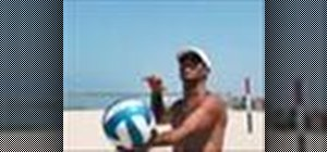 Serve overhand in volleyball