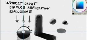 Begin drawing using indirect lighting and enclosure