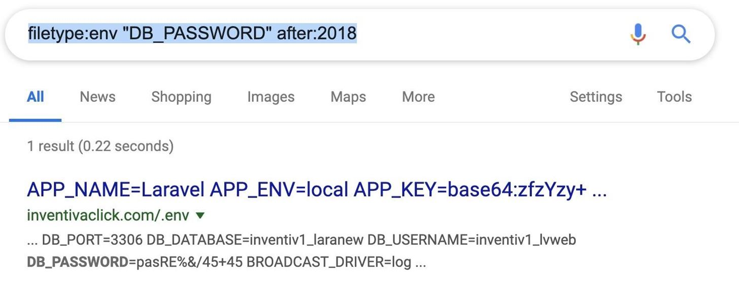 How to find passwords in Exposed Log Files with Google Dorks