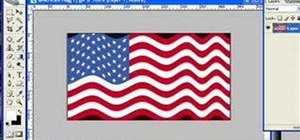 Make a wavy flag with a displacement map in Photoshop