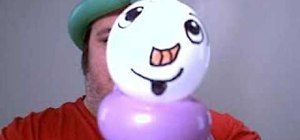 Make a balloon snowman