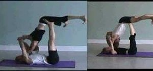 Do a forward flying yoga pose with a partner