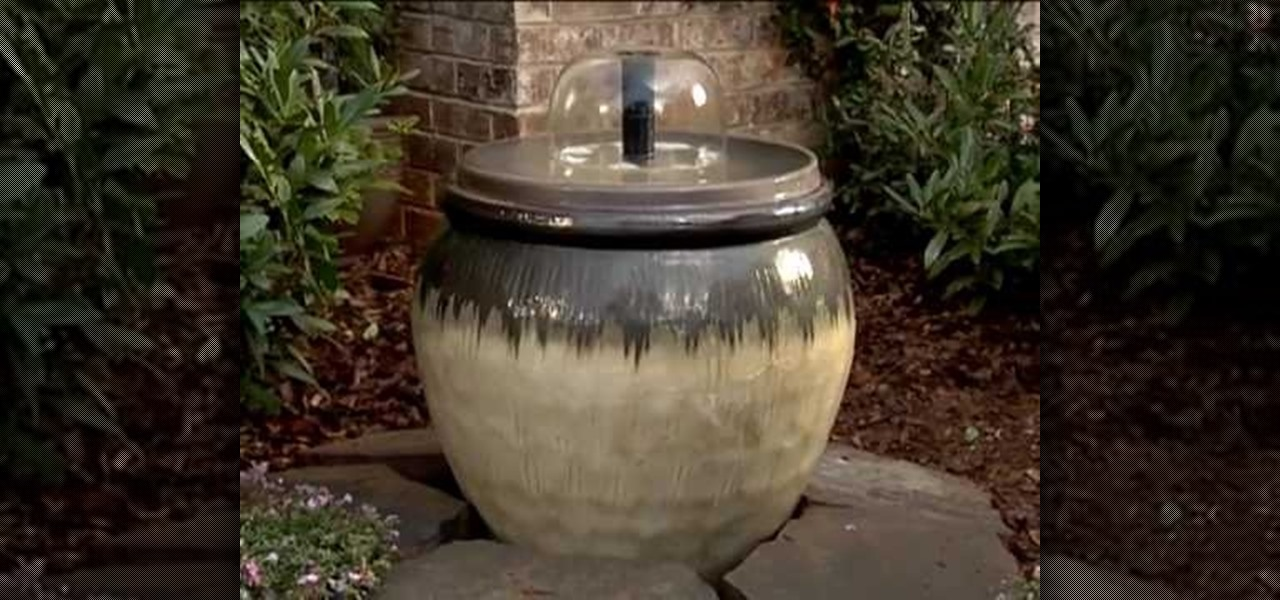 How To Create A Home Water Fountain With Loweu0027s « Landscaping :: WonderHowTo