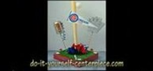 Make a baseball diamond centerpiece for a party
