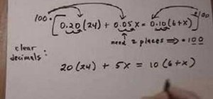Clear decimals from a linear equation