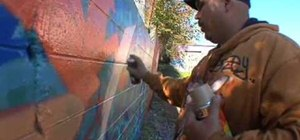 Write graffiti art basics with artist Leon Rainbow