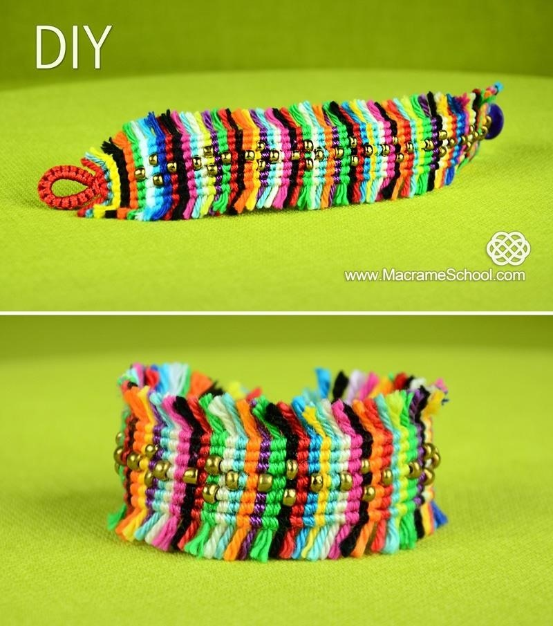Colorful Boho Chic Macrame Bracelet Tutorial