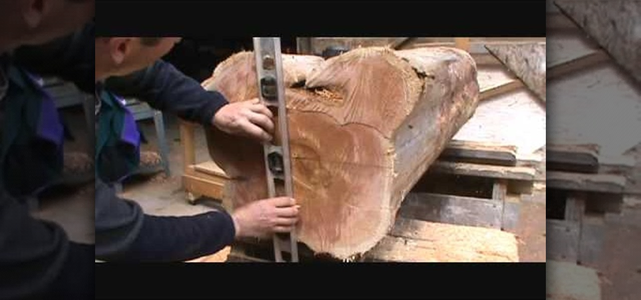 How to Build a beautiful cedar log bench using a chainsaw « Furniture ...