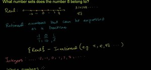 Solve number set problems in intermediate algebra