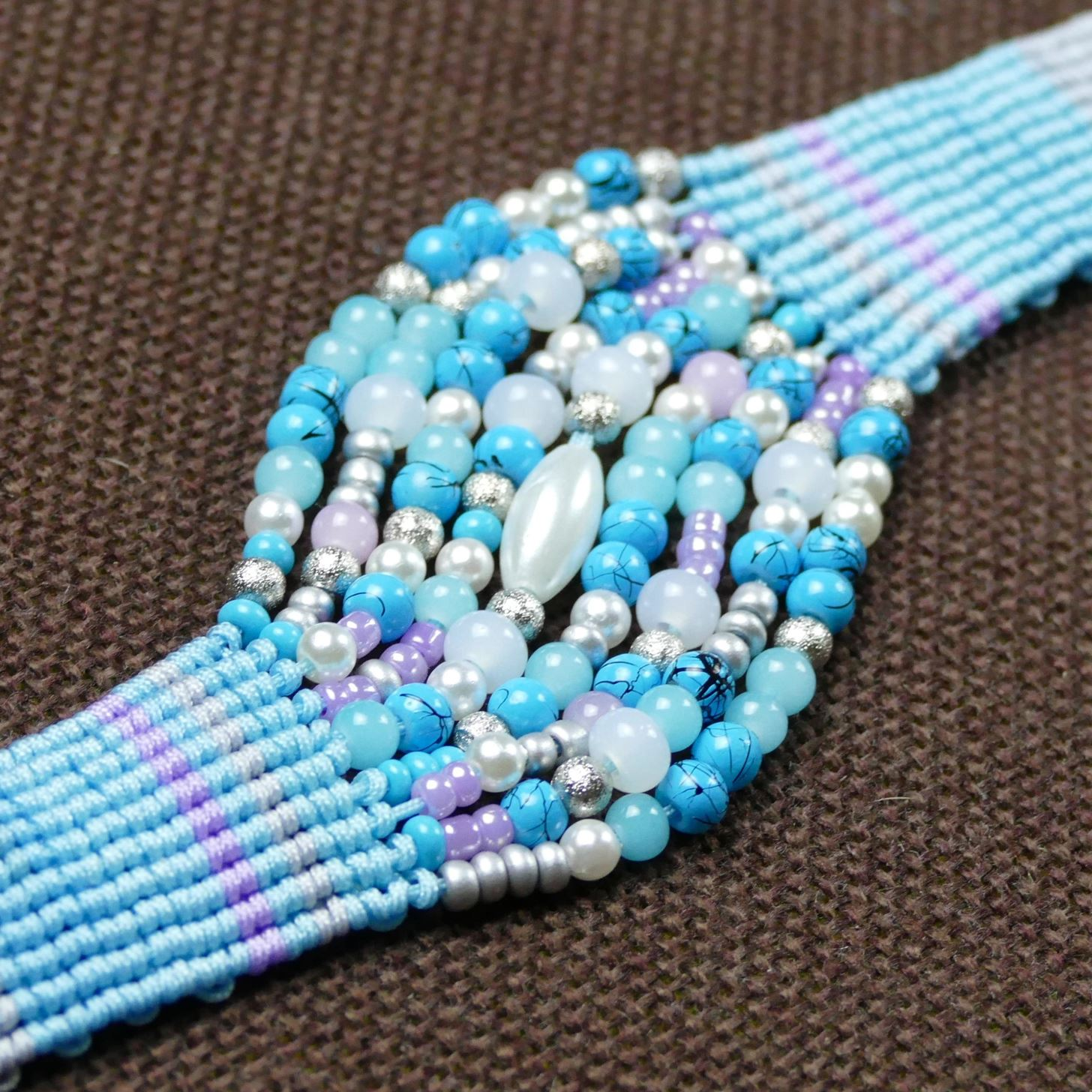 DIY Beaded Firework Bracelet Easy