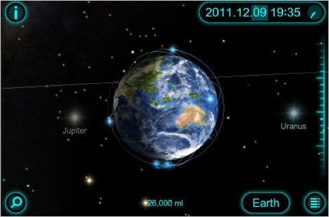 Solar Walk: Solar System iOS App with 3D TV Support