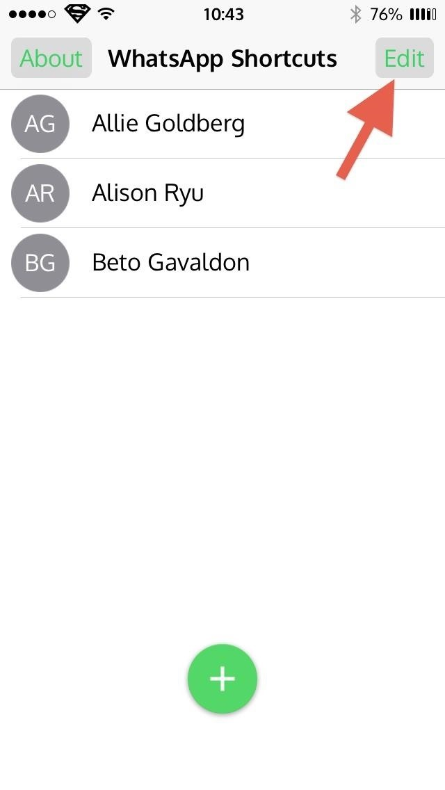 Get Faster Access to Your Favorite WhatsApp Contacts on Your iPhone