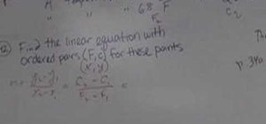 Convert temperature using a point slope equation
