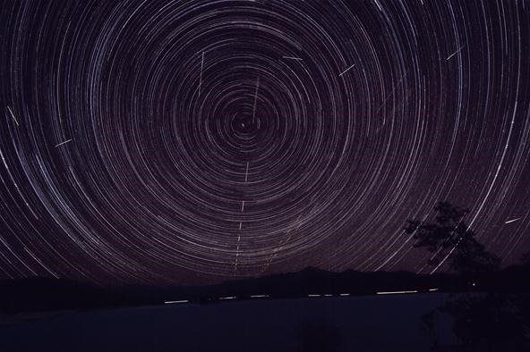 Quadrantid Meteors and Startrails