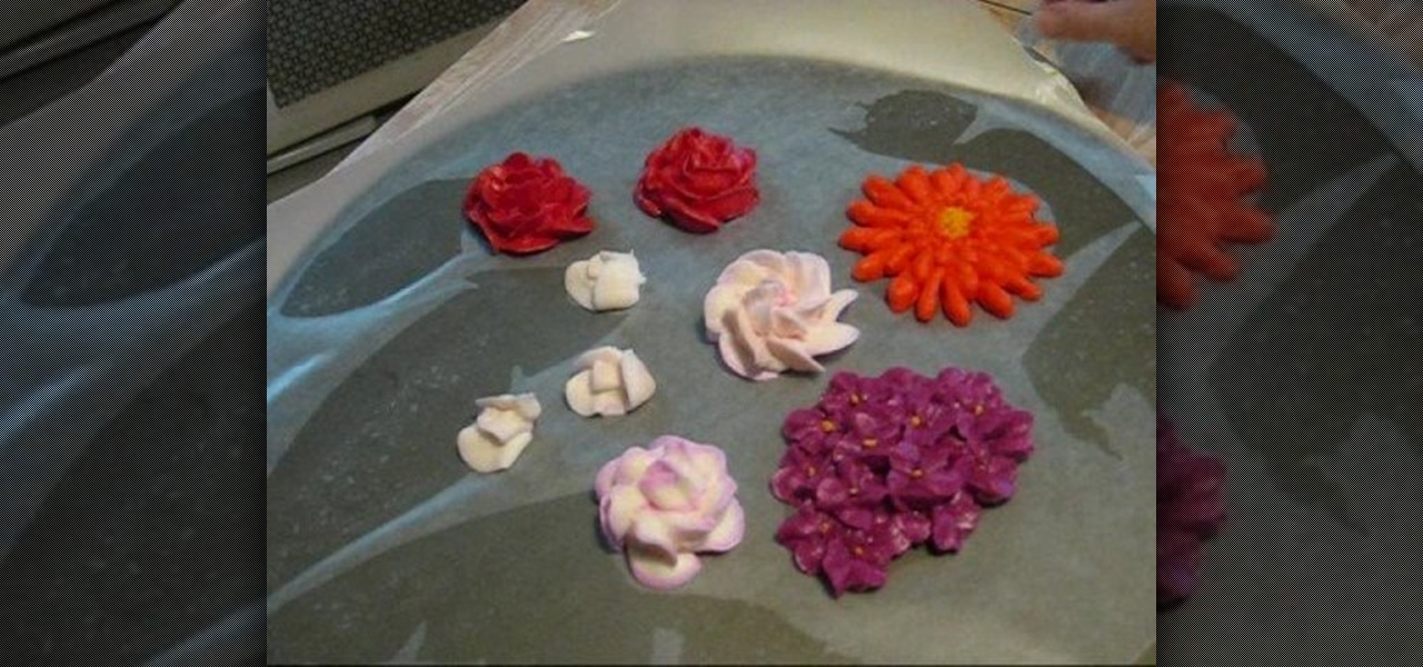 Cake Decorating How To Make Flowers : How to Air dry flowers made from buttercream frosting to ...